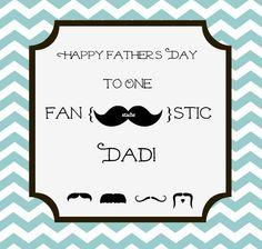 Free Mustache Father's Day Card I just made.  Enjoy!  www.cakeadoration.com