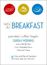 The Happy Breakfast event poster design and word art with matching ...