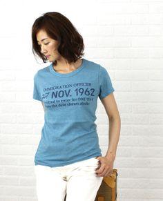 7th GATEコットン 半袖 クルーネック ロゴ Tシャツ