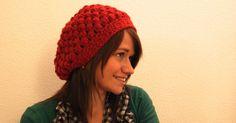 crochet puff stitch hat pattern (Translated Page) Crochet Patterns Free Women, Crochet Hat For Women, Love Crochet, Knit Crochet, Puff Stitch Crochet, Crochet Beanie, Knitted Hats, Crochet Scarves, Crochet Clothes