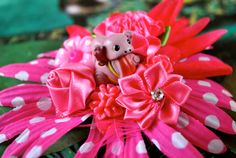 Pink Pokemon Inspired (Lickytoungue) Fascinator, Pink Hair Flower, Geeky, Nerdy, Cosplay, Pink Hair Clip, Pokemon Accessory, Kawaii, Cute