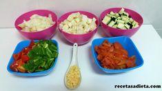 PISTO DE VERDURAS - Recetas a dieta Guacamole, Mexican, Japanese, Ethnic Recipes, Food, Fitness, Entrees, Red Bell Peppers, Healthy Recipes