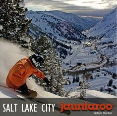 "Jauntaroo's featured destination of the week: Salt Lake City.     Utah, which boasts the ""best snow on earth"" is a skier and snowboarder's paradise. Is this your perfect vacation match? Visit www.jauntaroo.com to find out and learn more!"