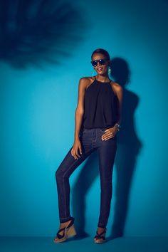 Calça Jeans Escura Skinny