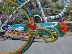 Mural style chain guard was painted by my friend Irma... who's a real artist!