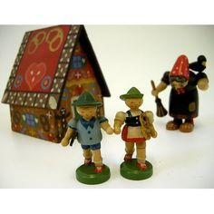 Traditional toy - hansel & gretel with witch and cottage