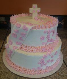 Girl Christening Cake