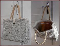 Crochet Tote, Crochet Handbags, Crochet Purses, Diy Crochet, Crochet Crafts, Crochet Accessories, Bag Accessories, Jute Bags, Market Bag