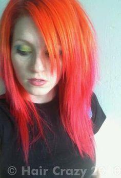 urs -   - Atomic Pink   - Hi-Octane Orange ombre