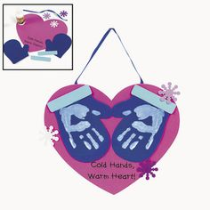 Handprint craft   Cute could make into parent gift also link to the Mitten by Jan Brett