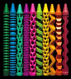 Crayon carving is the epitome of taking an everyday object used for one purpose and turning it into something extraordinary. In The Art of Crayon, we see how a crayon is transformed into a sculpture masterpiece. Image Crayon, Crayon Art, Crayon Drawings, Wow Art, Totems, Over The Rainbow, Oeuvre D'art, Rainbow Colors, Vibrant Colors