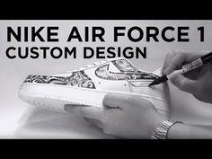 NIKE AIR FORCE 1 Custom Sneaker Design by Ralph Cifra - YouTube