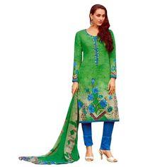 Gorgeous Printed & Embroidered Cotton Salwar Kameez Suit  #SalwarKameez #DressMaterial #SalwarSuit #Designer #FreeShipping #LowestPrice #NewStuff #ShopNow