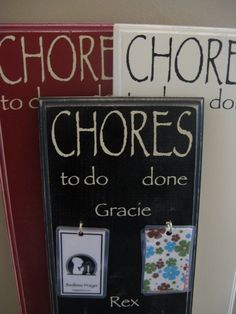 chores board, chore boards, names, ideas for chore chart, chore list, children, craft project, kid, chore charts