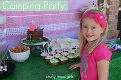 """Absolutely adorable """"Glamping"""" (Camping) Party via Crafty Texas Girls"""