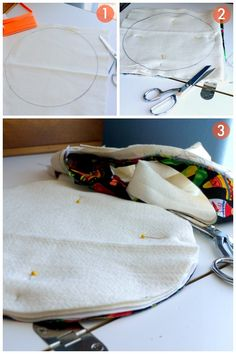 DIY Fabric Tortilla Warmer {Tutorial} - Fabric Crafts To Sell Sewing Basics, Sewing Hacks, Sewing Tutorials, Sewing Crafts, Sewing Patterns, Fabric Crafts, Small Sewing Projects, Sewing Projects For Beginners, Braided Rag Rugs