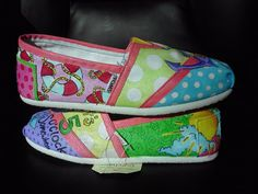 Playful Summer hand painted TOMS