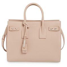Women's Saint Laurent Small Sac De Jour Tote (€2.575) ❤ liked on Polyvore featuring bags, handbags, tote bags, purses, bolsas, borse, nude rose, nude handbags, pink tote bags and man bag