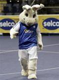 Peterborough United mascot Peter Burrow running, dancing, hopping & walking the London Marathon.