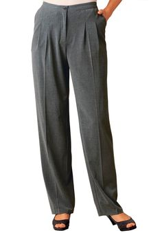 These plus size pants are made from a beautifully draping fabric and have a special mesh toning panel in the front for an extra touch of flattery. Our tummy-tamer trouser. Tall Pants, Slim Pants, Big And Tall Outfits, Plus Size Outfits, Plus Size Pants, Mens Big And Tall, Sweater Jacket, Plus Size Women, Stretch Fabric