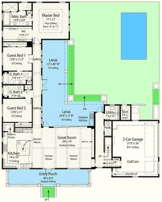 Plan 33161zr Net Zero Ready House Plan With L Shaped Lanai Pantry Photo Galleries And Southern