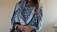 Louis Vuitton scarf.....I  want this scarf!