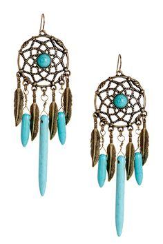 Lulu Feather Earrings by Meghan Fabulous on @HauteLook