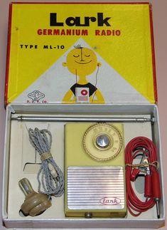 Vintage Lark Germanium Crystal Radio, Type D., Headphone Listening Only, Made In Japan, Circa 1958 - 1959 Le Radio, Radio Kit, Music Radio, Radios, Lps, Vintage Television, Transistor Radio, Cat Whiskers, Circuit Diagram