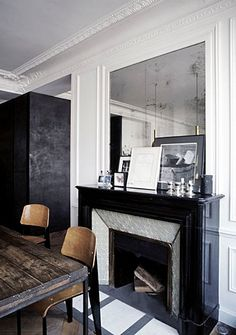Architect Visit: Joseph Dirand in France. we have the same fireplace.