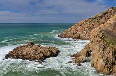 Rocks sea and sky Sintra Portugal by lbcurado  Nature Rocks Green Travel Nikon Blue Sky Seascape Sea Clouds Portugal Atlantic Tourism Sintra Cabo d