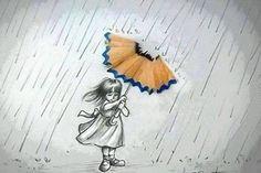anything can make an umbrella!