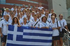 Η Ελληνική αποστολή πριν την τελετή έναρξης.