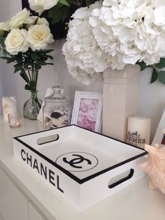 Made to order ~ Replica tray with Chanel branding. Bring a touch of luxury…