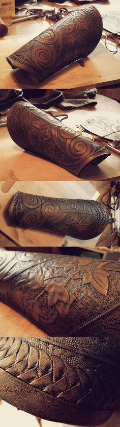 Druid Leather Bracer by Ladyeru on Deviantart.