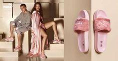 NEW Puma Fenty by Rihanna Leadcat Fur Slide Slipper Sandal Shell Pink 6.5/eur37