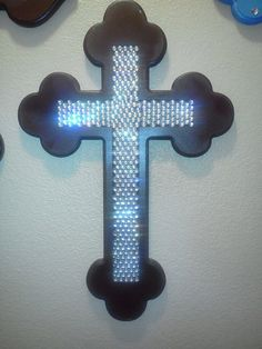 24 Inch Inlaid Bling Cross Miss Mes, Old Rugged Cross, Wooden Crosses, Diy Art Projects, Different Styles, Bling, Faith, Bear, Jewels