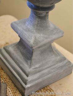 Ethereal PLUS what I Love: Inspired to do a faux Zinc Lamp