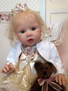 """NEW Reborn Baby Girl 25"""" Toddler Doll Gloria Michelle Glass Eyes Ruby Donnelly"""