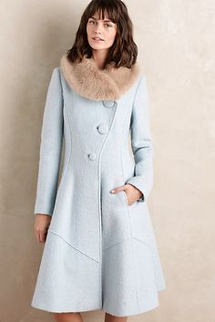 1988135c80 NWT Collared Beatrix Coat By Elevenses Anthropologie - Size 6