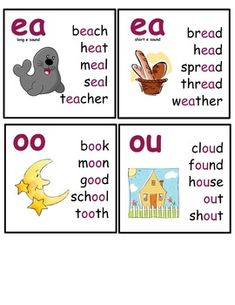 Vowel and Consonant Blends Flashcards/Posters by Learning Together Phonics Flashcards, Phonics Rules, Flashcards For Kids, Phonics Words, Jolly Phonics, Phonics Worksheets, Phonics Lessons, Reading Tutoring, Phonics Reading