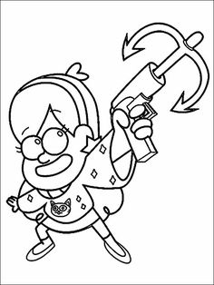 Gravity Falls Coloring Pages 12