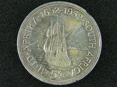 SOUTH AFRICA  1952     5 SHILLINGS  SILVER  OP 1005 silver coins ,  south africa  silver coin  , ,silver bullion coin Bullion Coins, Silver Bullion, Old Coins Value, English Coins, Valuable Coins, Coin Auctions, Afrikaans Quotes, Coin Values, Coin Jewelry