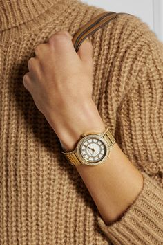 Push clasp fastening Water resistant up to 50 meters Comes in a designer-stamped presentation box Mk Watch, Rolex Watches, Michael Kors, Crystals, My Style, Gold, Accessories, Crystal, Crystals Minerals