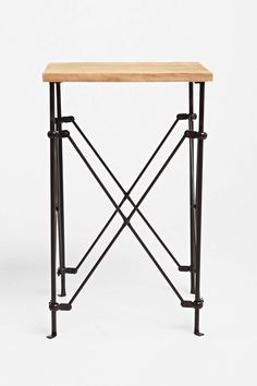 Wood Accordion Side Table