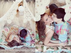 love the poses & the tent... adds so much more than typical picture in a field !