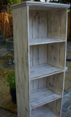 Wooden Shelf Rustic Shabby Furniture Storage by honeystreasures