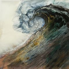 "wave art... Lia Melia; Mixed Media, 2012, Painting ""Siren Song"""