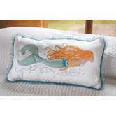 Found it at Wayfair - I Sea Life Pearl of the Sea Mermaid Pillow - so cute for a Mermaid Theme.