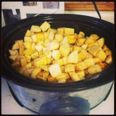 Applesauce in the crockpot!