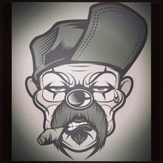 real mexican choloz   Dope cholo clown vector art picture. Check out this cool illustration ...